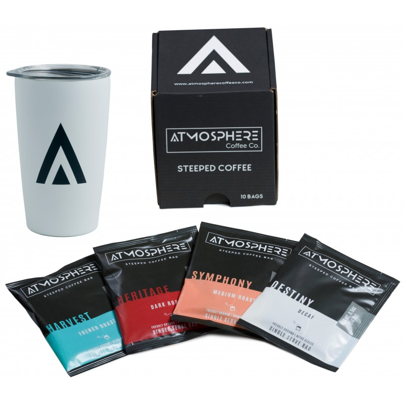 Atmosphere Coffee Tumbler with 10 Pack Mixed Box