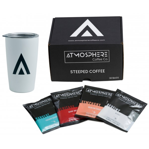 Atmosphere Coffee Tumbler with 30 Pack Mixed Box